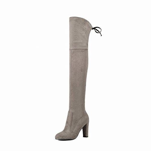Damen high heels Plateau Schnalle Sandalen (36, Lila) Mee Shoes