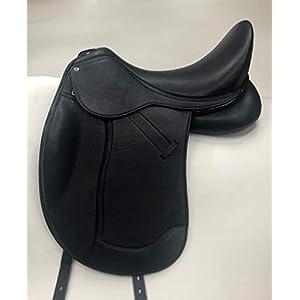 Dressursattel Donna doubliertes Leder 17,5 Z Leder weich! Mono Sattel Tysons Pauschen Tiefer Sitz incl. 5 Kopfeisen…