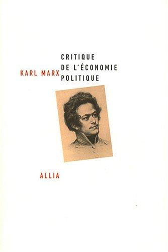 Critique de l'conomie politique