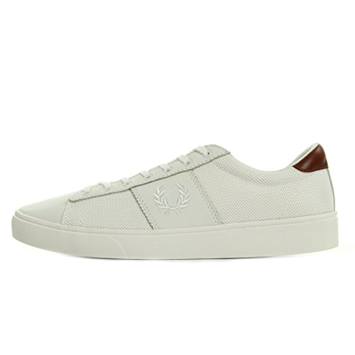 Fred Perry Spencer Mesh Leahter Porcelain White B1202254, Scarpe sportive - 40 EU