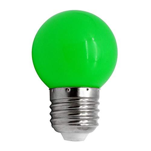 Chidjon Farbige Glühbirnen Bunte Kugel Glühlampe E27 3W SMD2835 LED Bunte Birnen Deko Glühbirne LED Lampen Stab Ausgangsdekor Beleuchtung (Grün) -