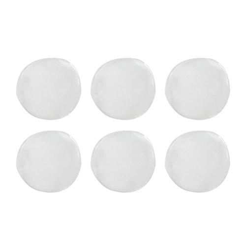 Healifty 6 Stück Klar Transparent Silikon Drum Dampening Gels Klangregelung Drum Mute Drum Damper Oval Form Schalldämpfer für Drum Kit Snare Drum -