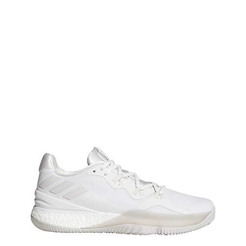 adidas Herren Crazy Light Boost 2018 Basketballschuhe Weiß (Balcri/Pertiz/Ftwbla 000) 49 1/3 EU