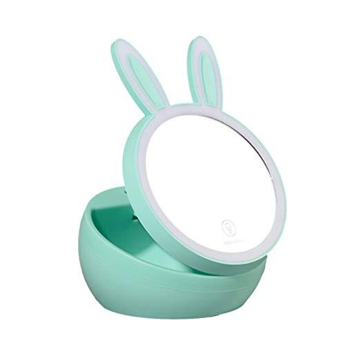 Espejo maquillaje conejo fresco pequeño Espejo maquillaje