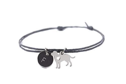 Armband Hund Edelstahl grau Gravur vegan Freundschaftsamband personalisiert