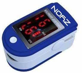 Zyon Finger Pulse Oximeter & Heart Rate Monitor w/ Instructions, Lanyard & Case - Dark Blue