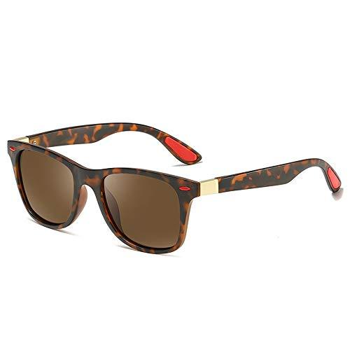 Occhiali da sole alla moda, occhiali da sole da uomo lenti polarizzate occhiali da sole retrò occhiali da sole occhiali da sole alla guida di occhiali per attività sportive all'aperto,reddotbrown
