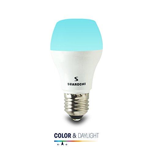 Svarochi Smart Colour & Daylight App Operated LED Lights 9W(E27), White