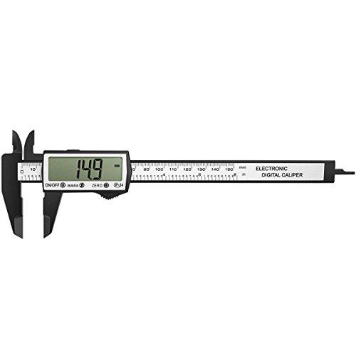 GOSCIEN Digitaler Messschieber bis 150mm Digitale Schieblehre Messgerät Etui LCD Display Hochpräzise aus Abständen und Durchmesser, Elektronische Digital Noniusschieber Mikrometer