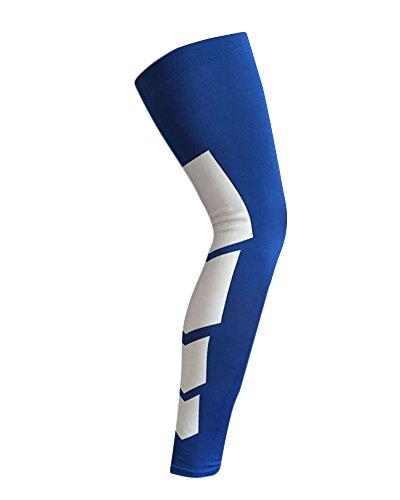 Oberschenkel Hohe Bein Wärmer Sleeve Perfekt für Läufer, Radfahrer, Basketball Sport,Elastische Kompression Bein Wadenstütze Wrap Guard Hülse(Einzelner Wrap) Blau M