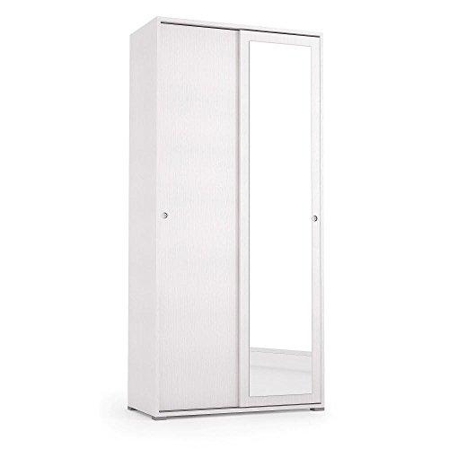 Terraneo armadio mobile con ante scorrevoli specchio 2 ripiani arredo interno el115/1b2ri