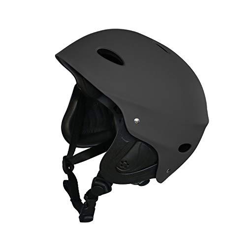 Vihir BMX Helm Skaterhelm Fahrradhelm Herren Damen Jungs & Kinderhelm Wasserhelm mit Ohrenschützer ABS+Eva, Schwarz/M