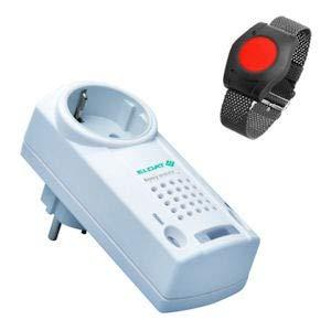 ELDAT RS10: Hausnotruf mit Funk-Notruf-Armband für die Pflege von Senioren, Altenpflege und Krankenpflege, Pflegeruf-Set ohne Quittierungsfunktion - Std Hardware