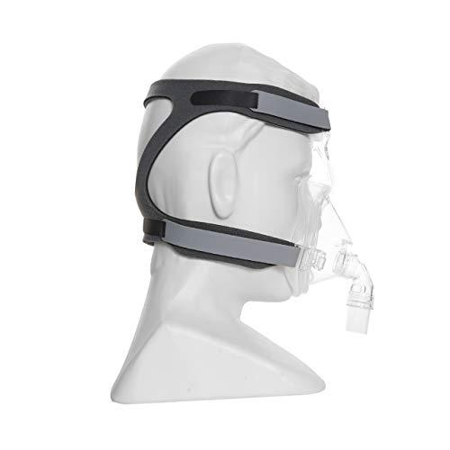 Plusmed cpap Zubehör - Universal Cpap Headgear Strap Ersatz für Resmed Cpap und verschiedene Cpap Mask. Ultralight, Soft und atmungsaktiv. (Maske nicht enthalten) (grau)