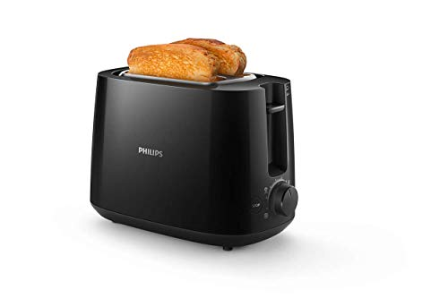 Philips HD2581/90 Daily Collection HD2581/90-Tostador (2 Rebanada, Giratorio, China, 2 año(s), 830 W, Plástico, 2 Ranuras, Negro