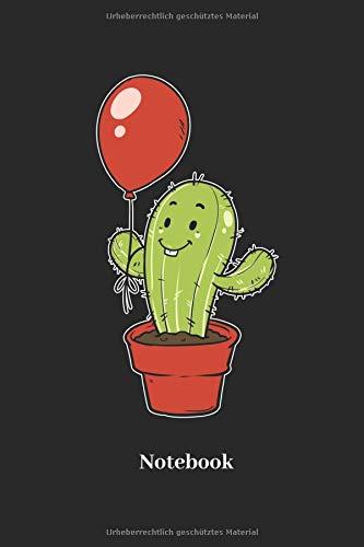 Notizbuch für Kaktus, Ballon, Luftballon und Pflanzen Fans - Notizheft Klatte für Männer, Frauen und Kinder ()