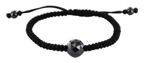 Ceranity - 45/0013-N - Bracelet Femme - Cordon - Boule - Céramique - Noir - 22 cm