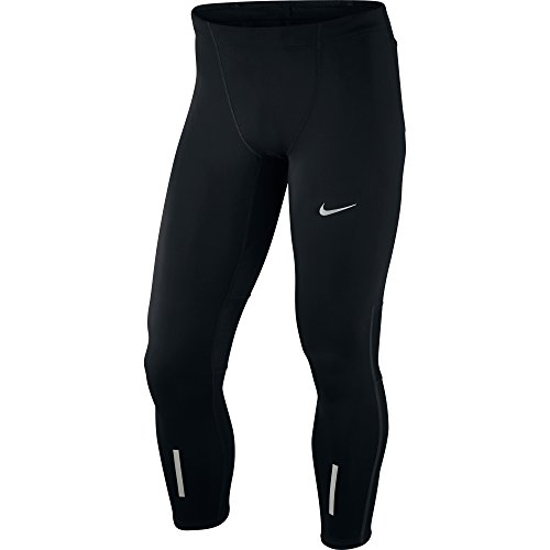 Nike Pantalone Uomo H-Tight Tech - Multicolore (Black/Reflective Silver) - M