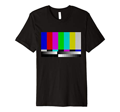 Test Card Colour Bars 80s T-shirt for Men or Women - 5 Colours - S to 3XL