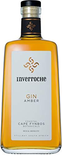 Inverroche Gin -Amber- Gin aus Südafrika/Pflanzen vom Kap/außergewöhnlicher Gin & Tonic Genuss/Reife Aromen/Wacholder/Orange/Tannine/Wilde Feige/Fynbos/Rooibos / 0,7 L Flasche 43% Vol