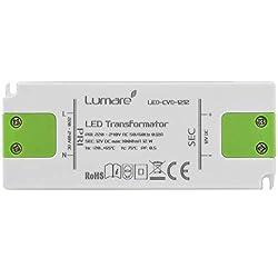 Lumare LED Trafo Slim 230V AC auf 12V DC 12W Leuchtmittel Transformator extra flach Treiber Spannungsstabilisiert
