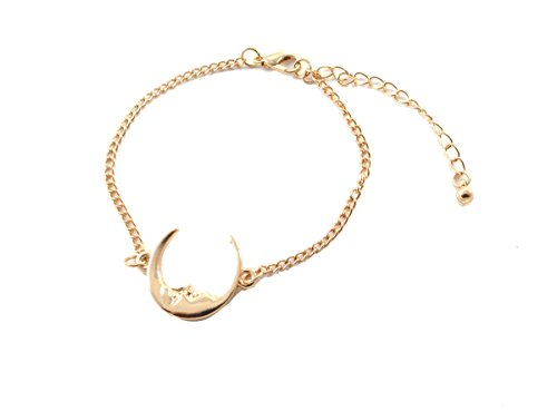 man-in-the-moon-crescent-dainty-thin-bracelet-in-gold-tone-adjustable-in-organza-bag