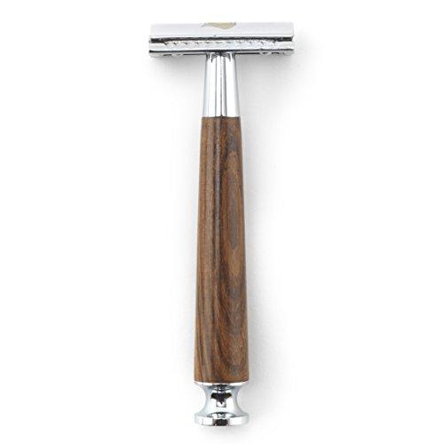 Rusty Bob - Rasierhobel - Rasier-Set - Barber-Shop / Nassrasierer offener / geschlossener Kamm - Holz