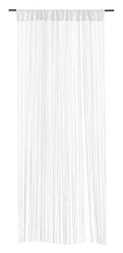 Fadenvorhang Fadengardine Türvorhang FEDORA | Weiß | 110x250 cm | Polyester