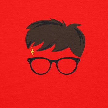 Planet Nerd Harry Scar - Herren T-Shirt Rot
