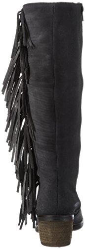BUNKER Damen Booty Langschaft Stiefel Schwarz (Carbon)