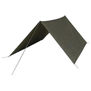 31GV10TA%2BnL. SS300  - Highlander Military Army Basha Green Waterproof Sleeping Shelter Tarp Sheet Tent Camping Olive Green