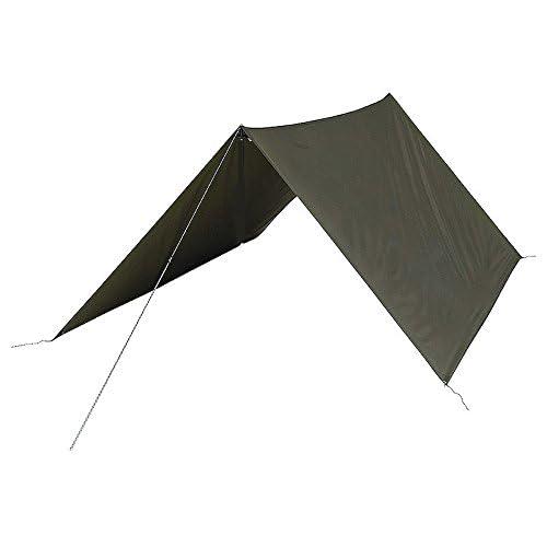 31GV10TA%2BnL. SS500  - Highlander Military Army Basha Green Waterproof Sleeping Shelter Tarp Sheet Tent Camping Olive Green