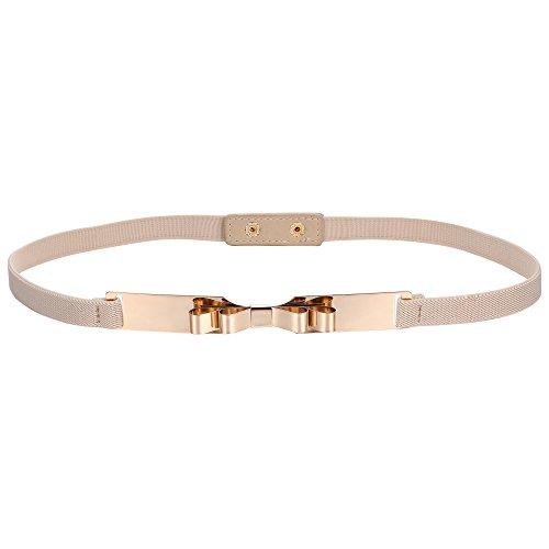 BABEYOND Damen Taillengürtel Metallic dekorativ Gürtel schmal Gürtel elastisch Taille Strap Stretchy modisch Gürtel für Kleider (Style-9-1)