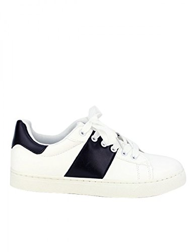Cendriyon, Baskets BLACK AND WHITE AS Chaussures Femme Blanc