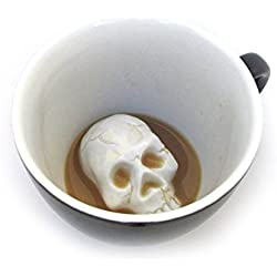 De cerámica de CREEPY CUPS (440 ml, negro medianoche) | Figura oculta en el interior