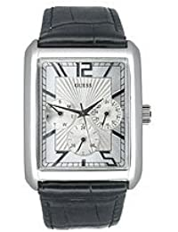 e48e70c5076d Guess - G95433G - Analogique - Montre Homme - Coffret - Bracelet en cuir  bracelet supplémentaire