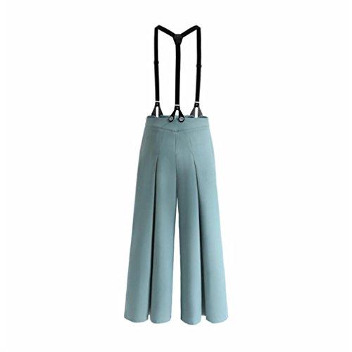 Pantalon large Winwintom Femmes RéTro Sangle Deux Pour Porter Des Pantalons à Jambes Larges Vintage Strap Two Wear Pantalon Large Leg Pantalon LâChe Jumpsuit Overalls Bleu