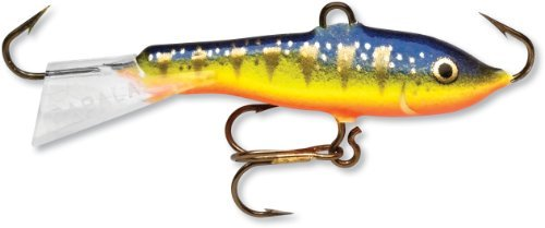 Rapala Jigging Rap 09 Fishing lure, 3.5-Inch, Glow Hot Perch by Rapala