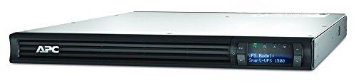 APC Smart-UPS SMT - Unterbrechungsfreie Stromversorgung 1.500VA Rackmodell 1U - SMT1500RMI1U - Line Interactive, AVR, LCD Display, 4 Ausgänge IEC-C13, Shutdown Software -