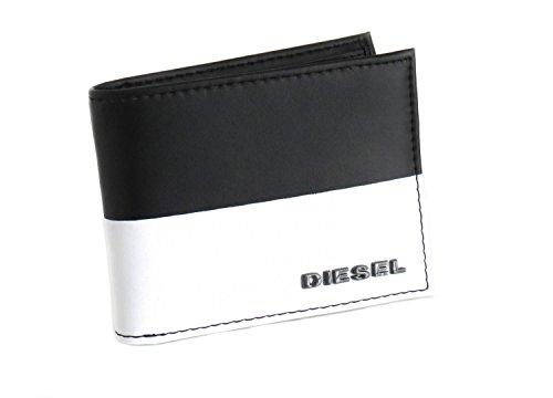 Diesel Portafoglio in pelle di colore nero e bianco