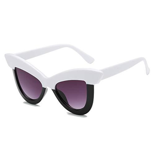 WZYMNTYJ Brille Damen Cat Eye Spiegel Shades Damen Sonnenbrille Schmetterling Rot Grün Persönlichkeit Brille Uv400