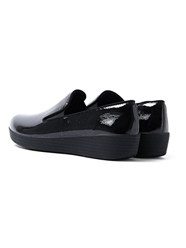 Cuoio Superskate Loafers FitFlop PATN Tassel Nero BLACK Donna All qwYIKXIxTg