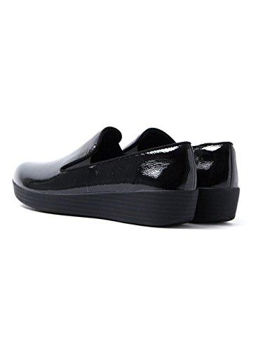 Donna BLACK PATN Superskate Loafers Nero FitFlop Tassel All Cuoio OwxBnqaS