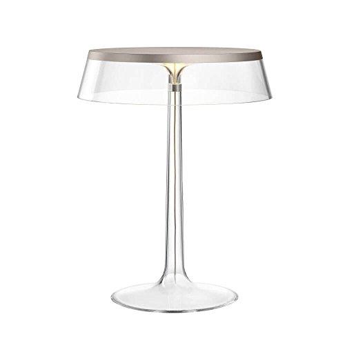 Flos Bon Jour Lampe de table avec structure chrome opaque et abat-jour transparente 220 Volt