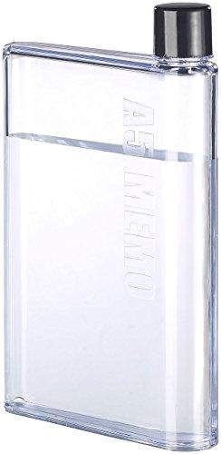 Rosenstein & Söhne Flache Flasche: Ultraflache Wasser-Flasche im A5-Notizbuch-Format, 420 ml (Flache Trinkflasche)