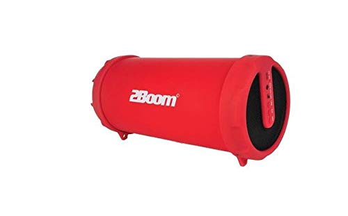 2BOOM Mini Bass King Wireless Bluetooth Portable Outdoor Speaker with FM  Radio LED Display - Red