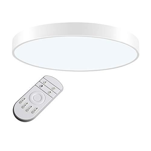 LED Deckenleuchte, LED Deckenlampe, Kaltweiß Warmweiß Rund Modern Led Deckenleuchten Schlafzimmer Küche Wohnzimmer Lampe für Balkon Flur Küche Wohnzimmer IP20[Energieklasse A+] (Dimmbar, 48W(60cm))