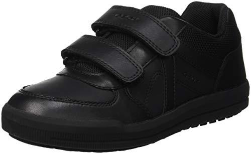 Geox Jungen J Arzach Boy E Sneaker, Schwarz (Black C9999), 36 EU Boys-school-sneakers