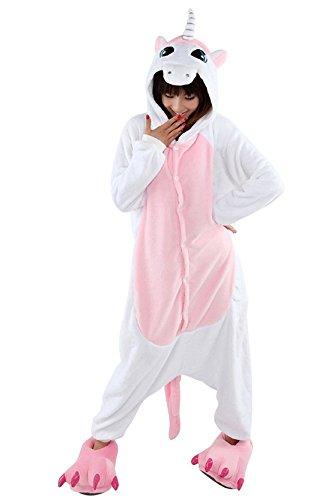 Kidslove Pyjama Tieroutfit Tierkostüme Schlafanzug Tier Onesize Sleepsuit mit Kapuze Erwachsene Unisex Jumpsuits Overall Damen Herren Pyjama (Kostüme 50 Für Erwachsene)