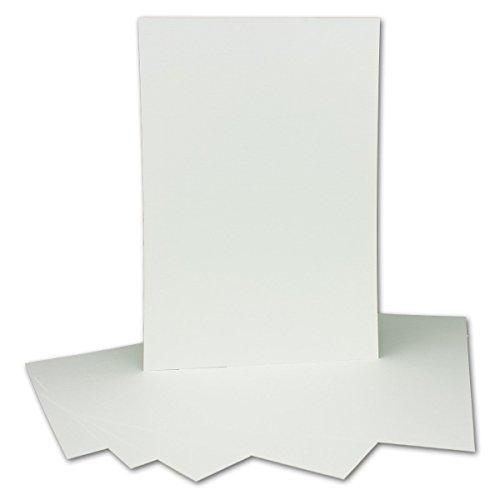 100 Stück DIN A4 Karton gehämmert   Farbe: Weiss   297 x 210 mm - 250 g/m²   Einzelkarte ohne Falz - Ideal zum Basteln, Scrapbooking, Grußkarte   Gustav NEUSER